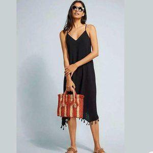 Anthropologie Allihop Martina Black Coverup Dress